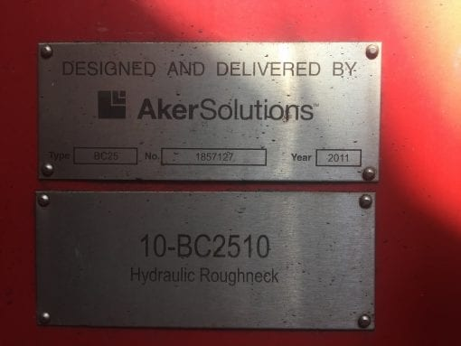 (1) Used Aker Solution Roughneck for sale-IMG_9327