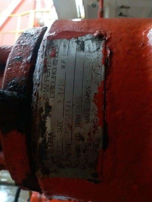 (1) Used Shaffer remote drilling choke for sale-20180820_173059_resized