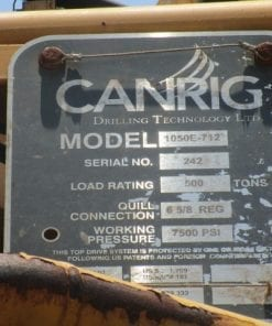 (1)Used Canrig Top drive 1050E-712 for sale-IMG-20180112-WA0010