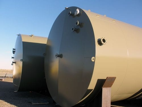 210 BBL steel production tank