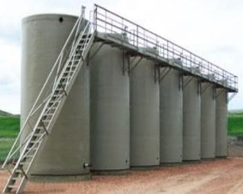 750 BBL Fiberglass Production Tank