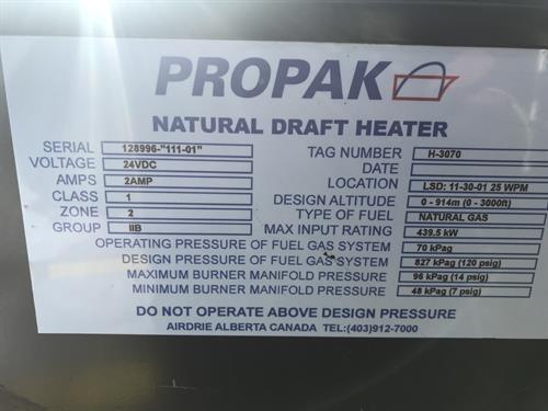 Mono-Ethylene Glycol (MEG) Utility Heat Medium Package 1.5 MMBTUHR 439.5 kW Used-IMG_4706
