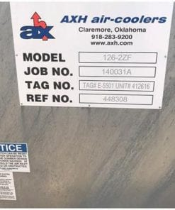 Reciprocating Compressor Package Components 450 HP Ariel JGE-2 Toshiba-job_plate