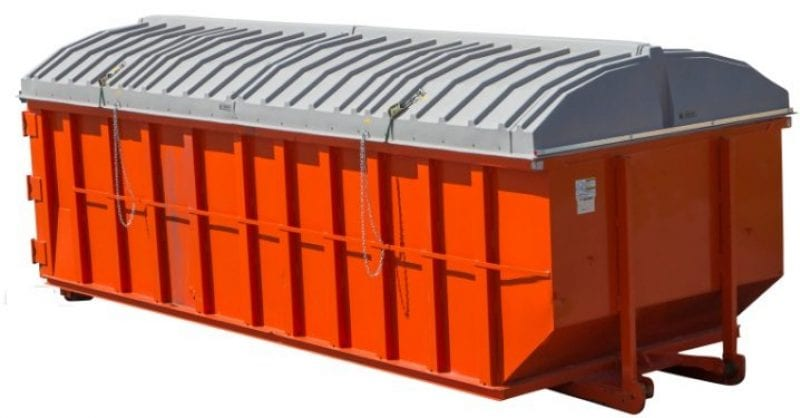 Roll Off Poly Top Container